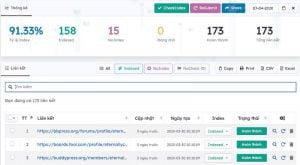 Dịch vụ Backlink Social Building kèm báo cáo chi tiết về Index
