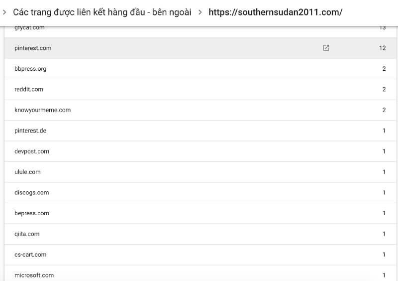 Tất cả backlink entity building đều về webmaster tool
